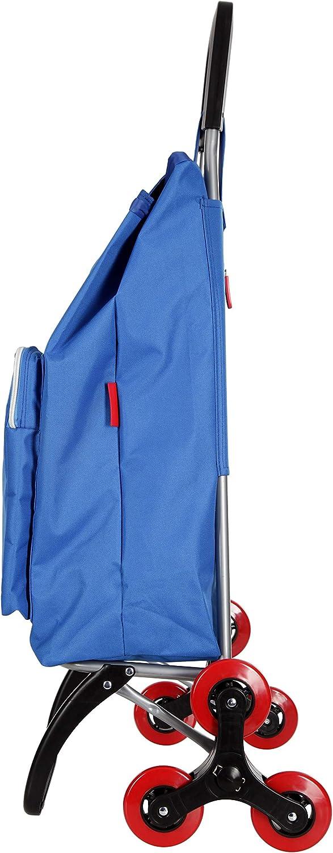 Caddie Habanera Carrito de compras Cochecito de mercado Plegable 2 ruedas 50 litros Bolsa impermeable lavable Color Azul