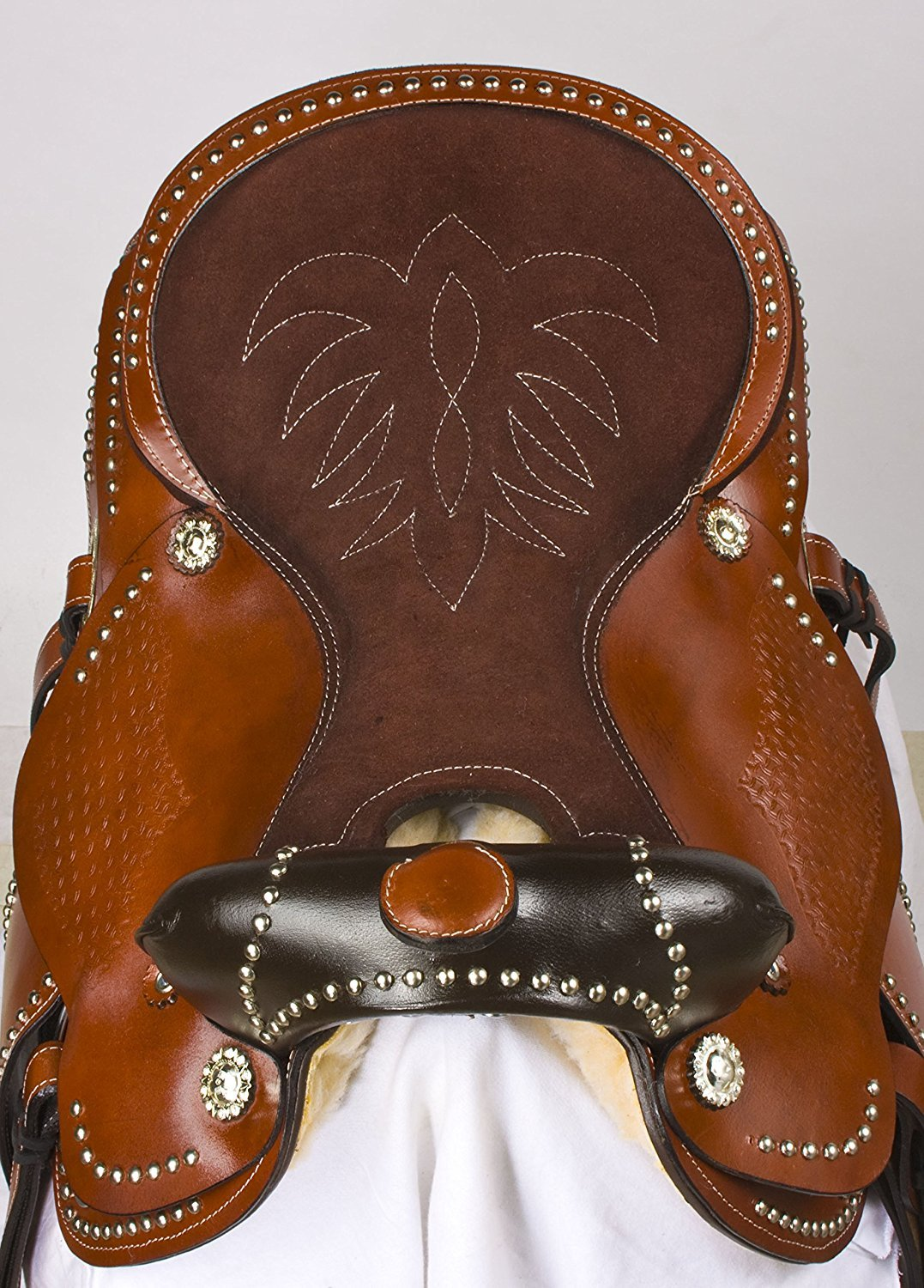 ME Enterprises Premium Leather Western Barrel Racing Horse Saddle Tack Size 14 to 18 Inches Seat Available Get Matching Leather Headstall Reins Breast Collar
