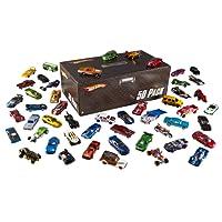 Hot Wheels Coffret 50 véhicules, jouet pour enfant de petites voitures miniatures, modèle aléatoire, V6697
