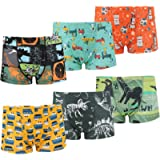 MooMoo Baby New Boys Boxer Briefs 6 Pack Soft Cotton Briefs Underwear Comfy and Breathable Kids Panties