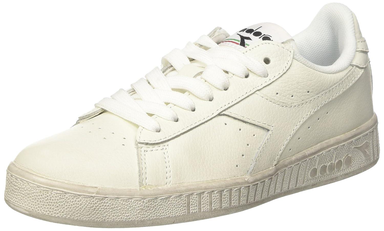 Diadora Game L Low Waxed, Zapatillas de Gimnasia Unisex Adulto 45 EU Blanco (Bianco/Bianco/Bianco)