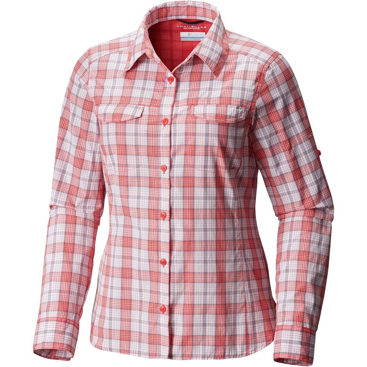 (コロンビア) Columbia Silver Ridge Lite Plaid Long-Sleeve Shirt レディース シャツトップスRed Camellia Plaid [並行輸入品] XL Red Camellia Plaid B079Q7F1Q3