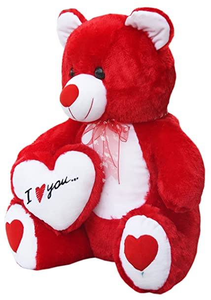 Buy Amardeep And Co Teddy With I Love You Heart Red 60 Cm Online
