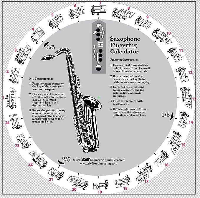 Amazon Rotary Saxophone Fingering Chart Everything Else