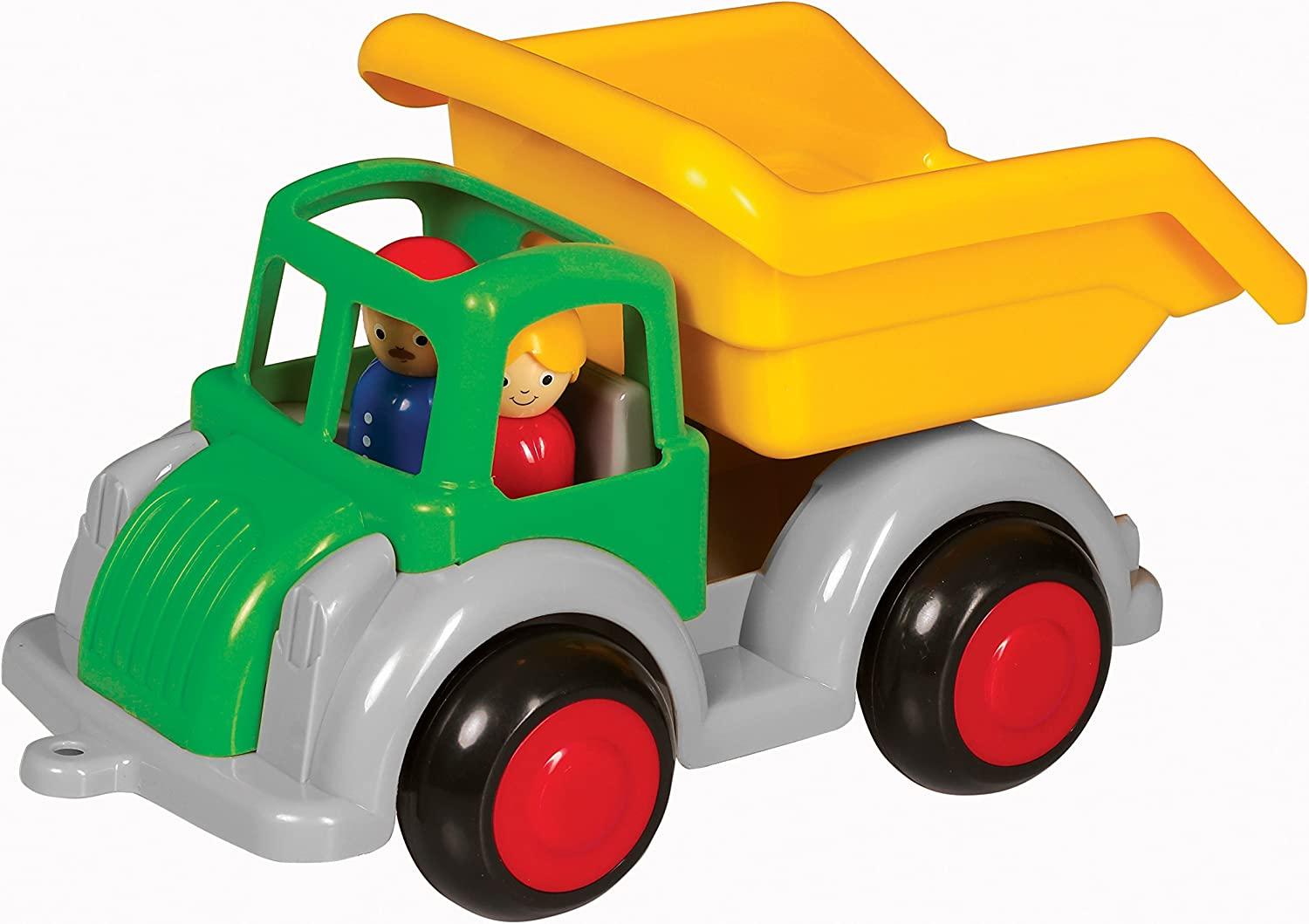 Dishwasher Safe 10 Vehicle with 2 Removable Figures Ages 1 and Up Indoor /& Outdoor Use Really Dumps! Viking Large Fun Color Dump Truck