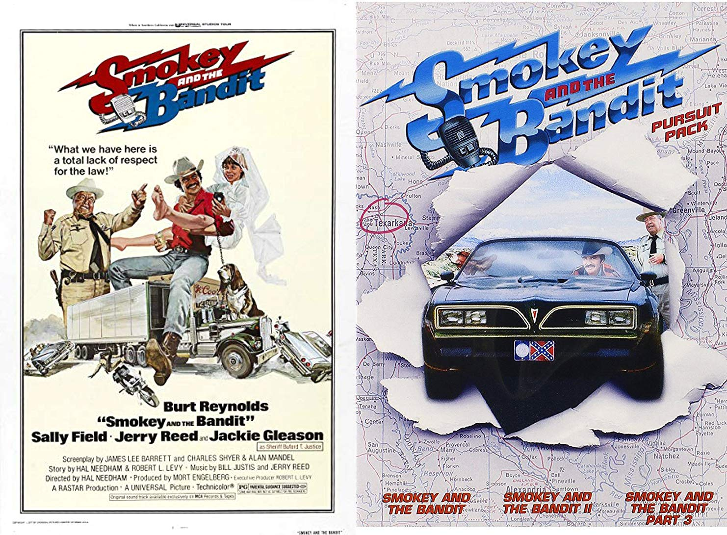 Amazon Com Lack Of Respect For The Law Collection Smokey The Bandit Part 1 2 3 Pursuit Pack Original Fabric Movie Poster Exclusive Feature Dvd 3 Comedy Favorites Set Burt Reynolds Jackie Gleason