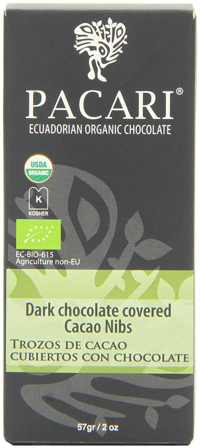Amazon.com : Pacari Ecuadorian Organic Chocolate Raw Cacao Nibs Covered In Dark Chocolate, 2 Ounce (Pack of 6) : Candy And Chocolate Bars : Grocery ...