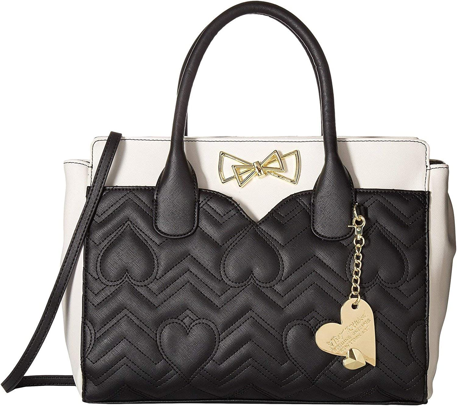 Betsey Johnson Womens Dip Satchel with Removable Pouch