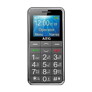 "291a1f849c3 AEG M250 - Móvil Libre para Personas Mayores (Pantalla 1.8"", tecla de  Emergencia"
