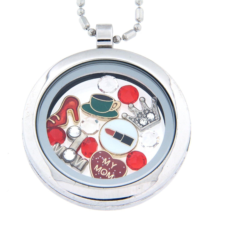 Themed floating charm locket necklace amazon moms favorite things theme floating charm locket necklace jewelry aloadofball Images