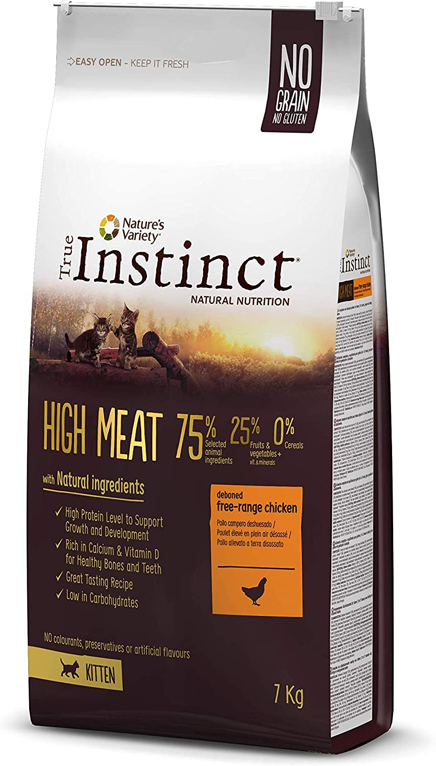 True Instinct High Meat Kitten - Nature's Variety - Pienso para gatitos con pollo deshuesado 7kg