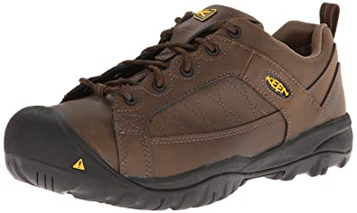Men's Keen Mesa Esd Low Steel Toe Oxford Wide Work Shoes Cascade Brown G26q5720