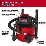 CRAFTSMAN CMXEVBE17584 6 Gallon 3.5 Peak HP Wet/Dry Vac, Portable Shop Vacuum with Attachments