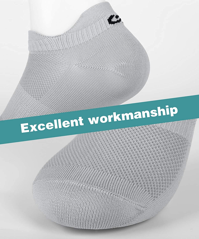 8 Paare coskefy Socken Herren 43-46 39-42 35-38 47-50 Damen Sneaker Socken Herren Baumwolle Sportsocken Atmungsaktive Laufsocken