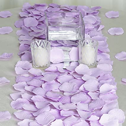 Amazon Balsacircle 4000 Lavender Silk Artificial Rose Petals