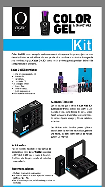Amazon.com: Kit Color Gel orgánico uñas: Beauty
