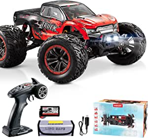 Hosim RC Cars 1:12 4WD 46KM/H High Speed Remote Control Car RC Monster Truck for Kids Adults, All Terrain Off Road Truck Radio Controlled Off-Road RC Car Electronic Hobby Grade Gifts for Boys (Red)