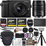 Panasonic LUMIX GX85 Mirrorless Camera (Black) Bundled with 12-32mm and 45-150mm Lenses, 64GB SD Card, and Accessory…