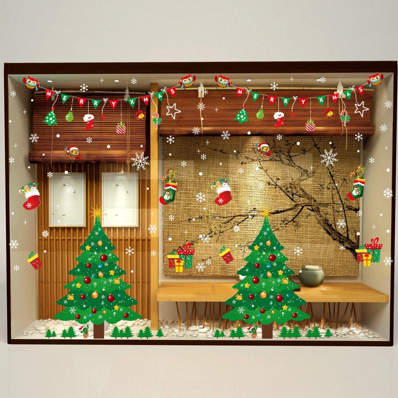 Fensterbilder für Weihnachten,Fensterdeko -Statisch Haftende PVC ...
