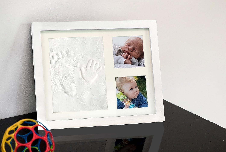 Hand und Fußabdruck-Set mit ECHTGLAS. Bilderrahmen mit Platz für 2 ...