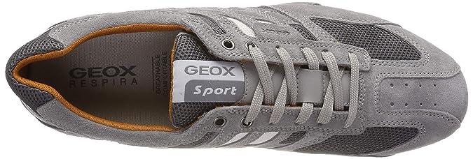 Geox Herren UOMO SNAKE K Sneaker Grau (PapyrusDk Grey C1s9f) 44 EU