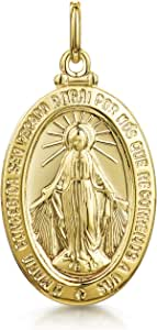 Amberta Unisex 9K Yellow Gold Coin Pendant