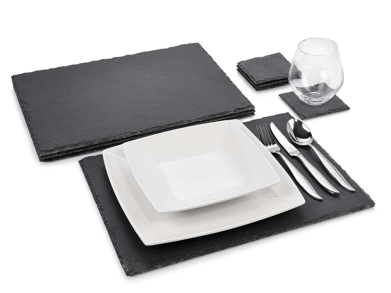 Sänger Schieferplatten Set \'Dinner\' 8 teilig   Komplettes Platzset ...