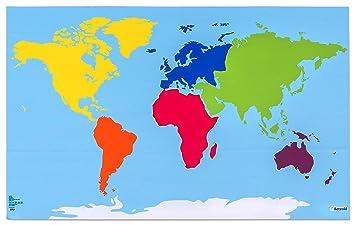 weltkarte kontinente Betzold 74716   Lerntuch Welt   Tischdecke, Weltkarte mit Farbigen  weltkarte kontinente