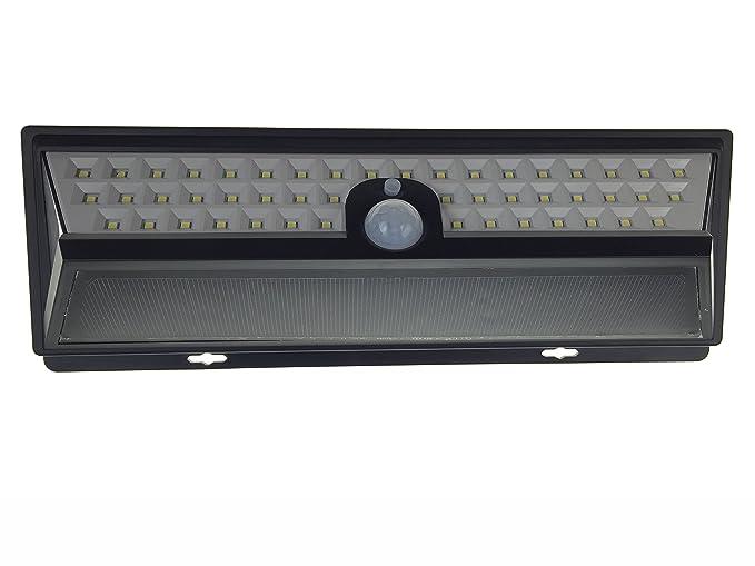 Conwea 54 luces de seguridad LED luces de energía solar lámpara de pared al aire libre impermeable luces solares con sensor de movimiento de gran angular de ...