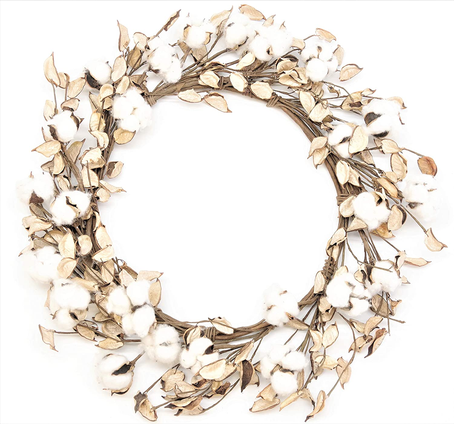 Silvercloud Trading Co. Real Cotton and Husk Wreath - 16