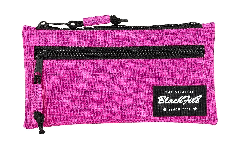 Amazon.com: Blackfit8 – Estuche portatodo Two Zips, Pink ...