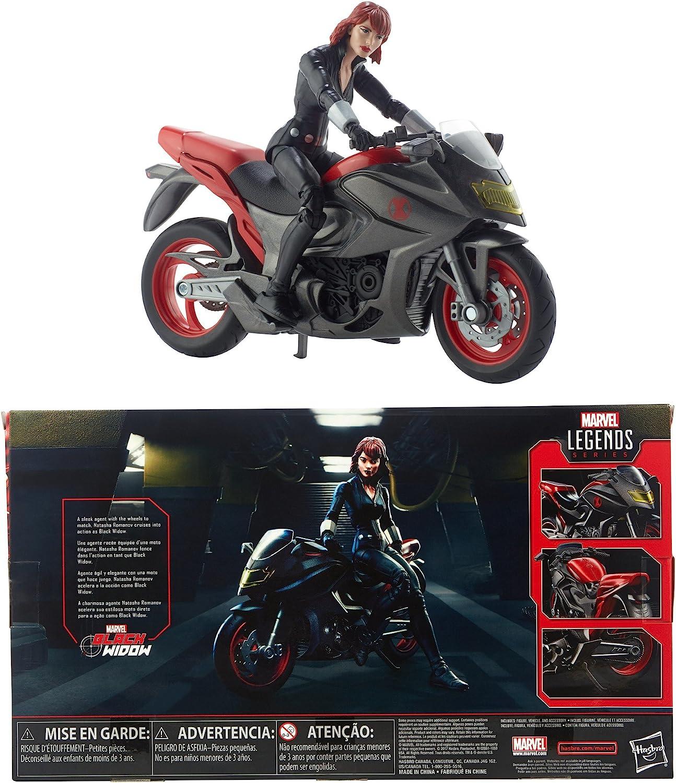 Black Widow Action Figure Marvel Legends 16 cm Motocicletta Vedova Nera Hasbro