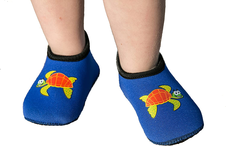 Details about  /Boys BLACK BLUE WATER SHOES Aqua Socks SWIM BEACH Adj Elastic Laces M 13-1 L 2-3