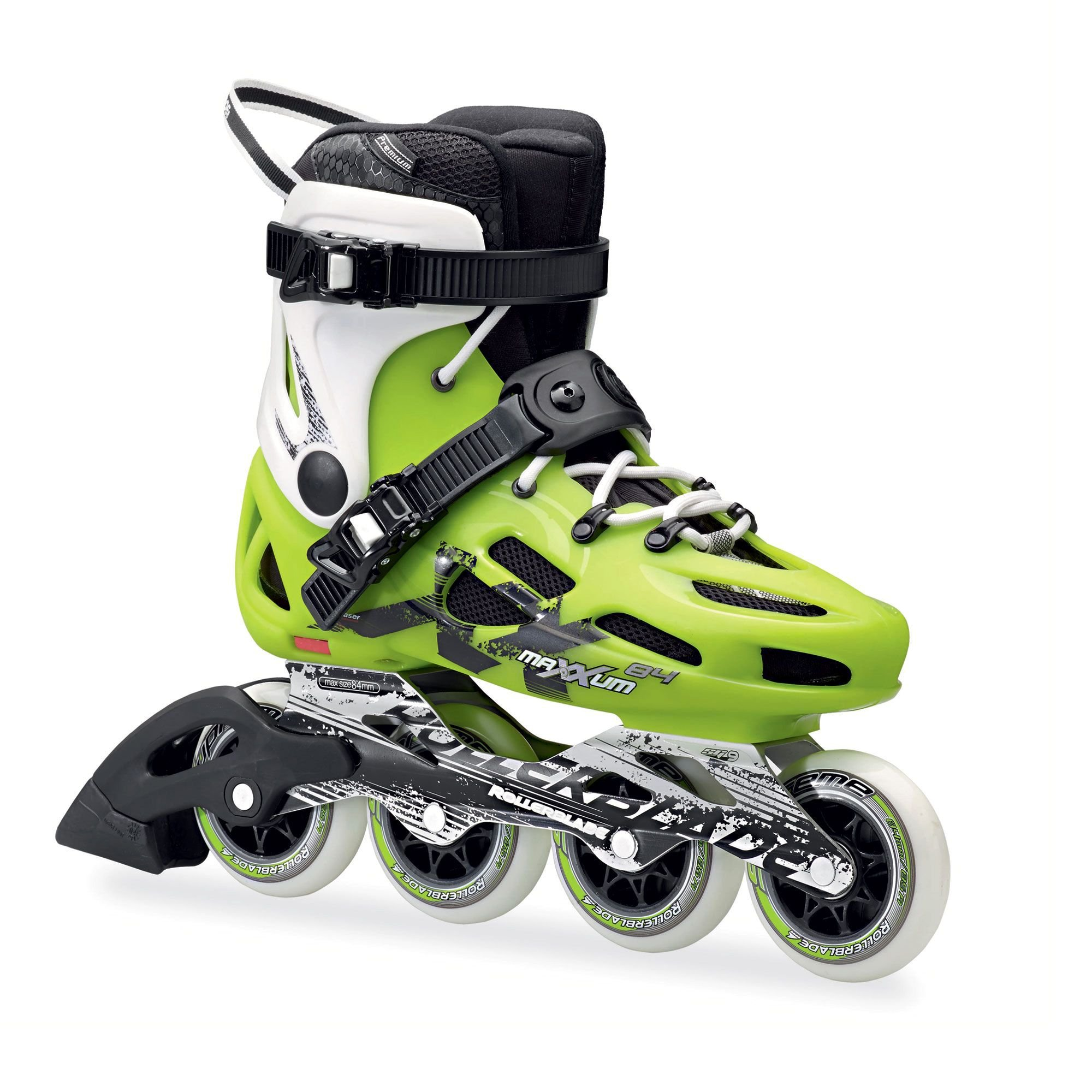 Rollerblade Men's Maxxum 84 Skates Green 29.5 & Headband Bundle