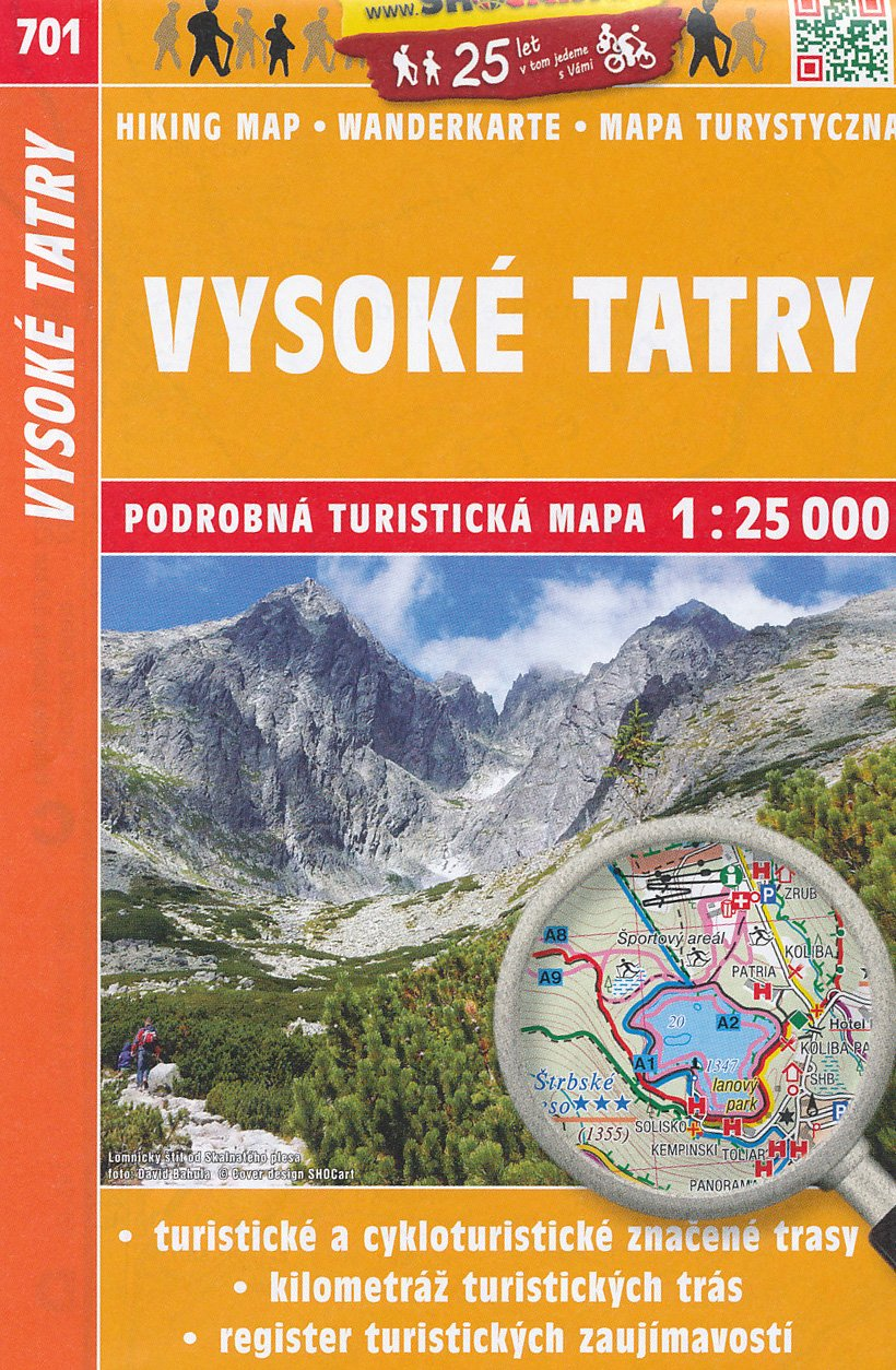 Download High Tatra Mountains (Slovakia) 1:25,000 Hiking Map SC ebook