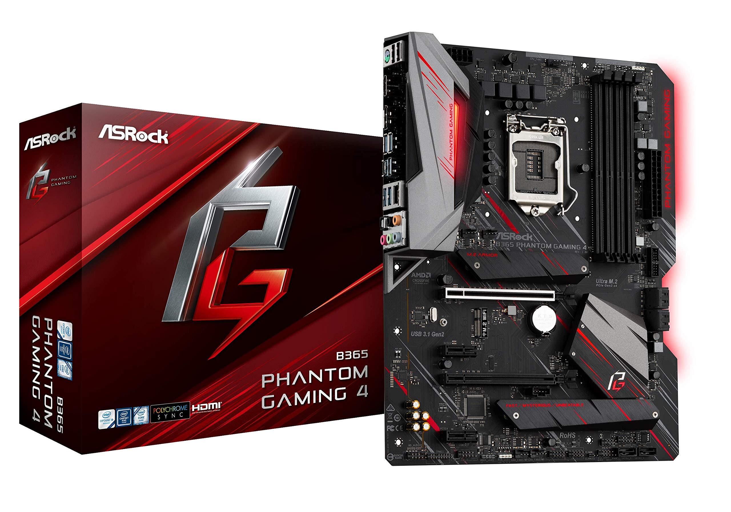 ASRock B365 Phantom Gaming 4 LGA1151/ Intel B365/ DDR4/ Q...