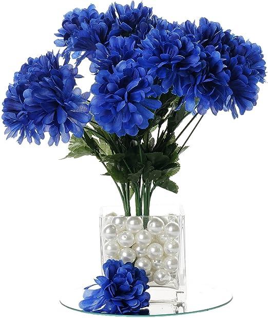 Amazon Com Balsacircle 84 Royal Blue Silk Chrysanthemums 12