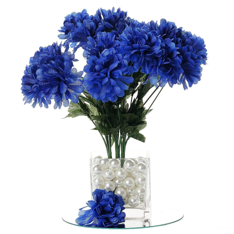 Amazon.com: BalsaCircle 84 Royal Blue Silk Chrysanthemums - 12 ...