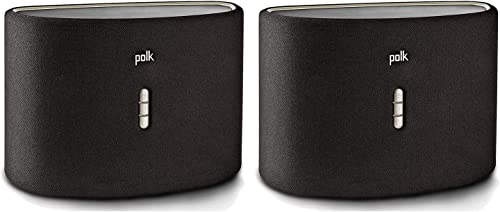 2 Pack Polk Audio Omni S6 Wireless Wi-Fi Music Streaming Speaker with Play-Fi Black