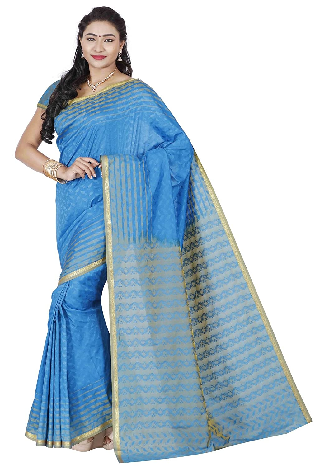 01a0bdfdbf RRs kanchipuram Art silk Powerloom Saree (PSE001-SKYBLUE): Amazon.in:  Clothing & Accessories