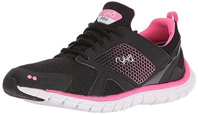 RYKA Women's pria Running Shoe, Black/Pink, ...