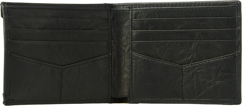 Fossil Mens Neel Leather Sliding 2 In 1 Cardcase Bifold Wallet