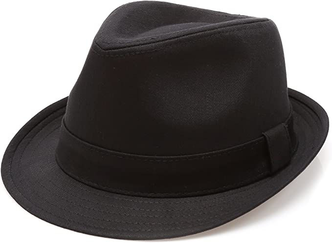 Amazon | クラシックTrilby Short Brim 100 % Cotton Twill Fedora Hat ...