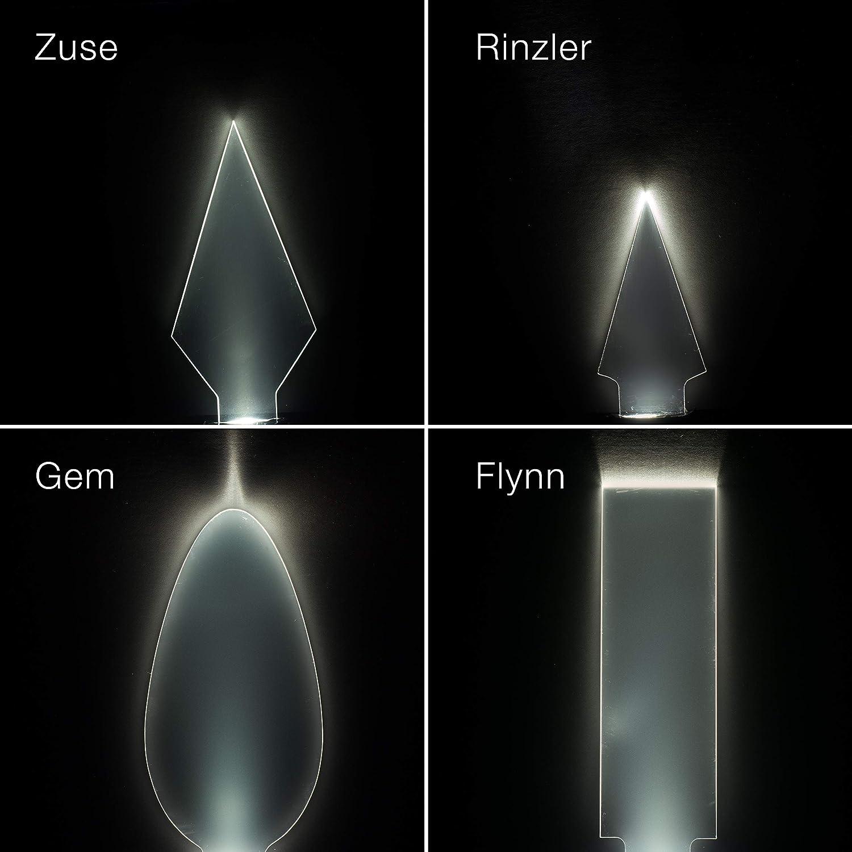ISO System Light Blade Taschenlampe Acrylaufsatz Transparent Lumenman Blade 4er Set Classic