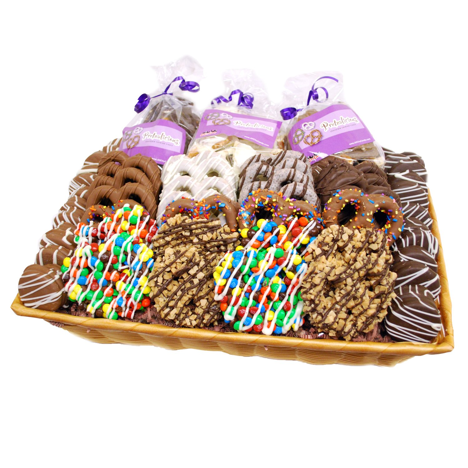 Ultimate Collection Gourmet Chocolate Covered Pretzels and Cookies