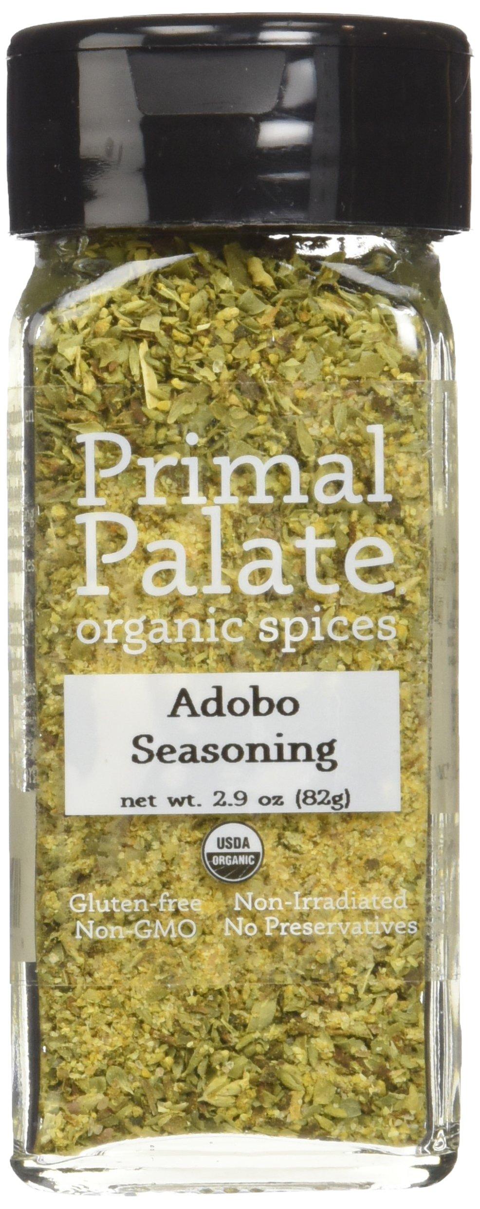 Primal Palate Organic Spices Adobo Seasoning, Certified Organic, 2.6 oz Bottle