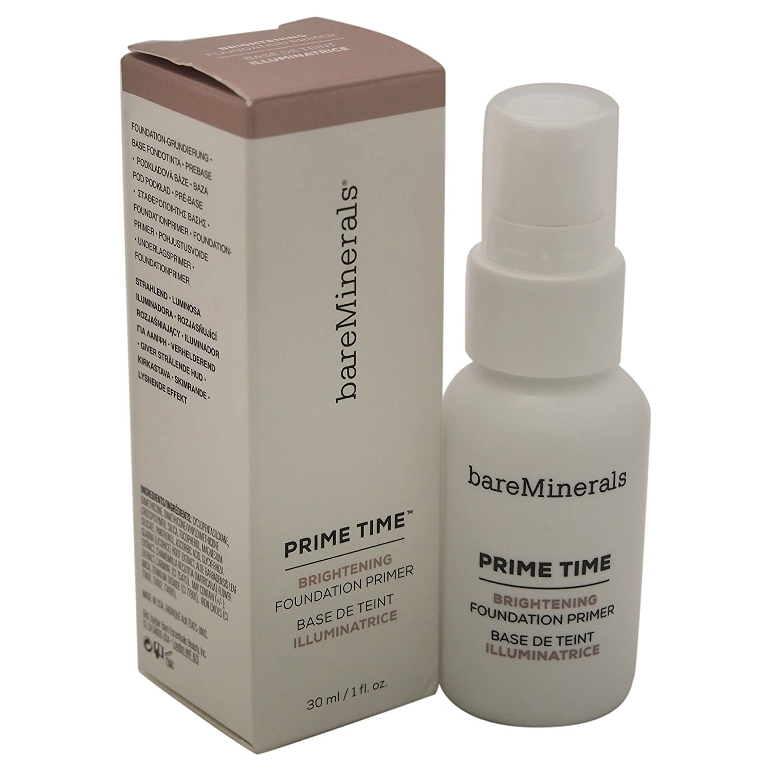 bareMinerals Prime Time Brightening Foundation Primer for Face, 1 Ounce Tjernlund Products Inc. 80477