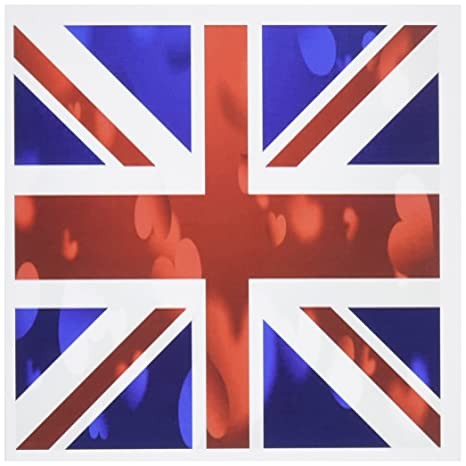 Amazon 3drose set of 12 greeting cards print of british union 3drose set of 12 greeting cards print of british union jack flag with hearts m4hsunfo