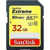 SanDisk - SDSDXVE-032G-GNCIN 32GB Extreme SDHC UHS-I Memory Card - 90MB/s, C10, U3, V30, 4K UHD, SD Card - SDSDXVE-032G-GNCIN