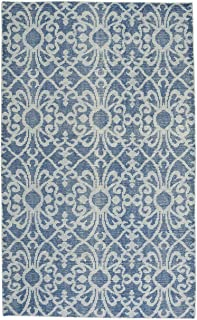 "product image for Capel Classic-Courtyard Denim 5' 0"" x 8' 0"" Rectangle Hand Knotted Rug"